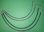 4 QUICK HITCH REPLACEMENT HOSE ASSEMBLIES FOR JOHN DEERE  X475 X495 X595 X700