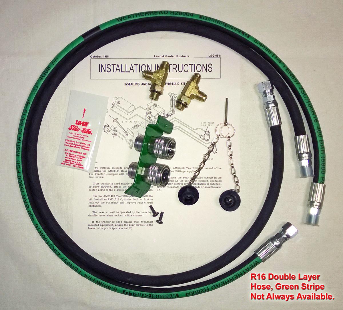 John Deere 140 Rear Hydraulic Kit H3 Wiring Diagram Quick View
