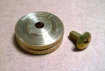 Brass Knob w/ Screw Original Style & Heavy Duty Lockout Valve
